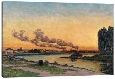 Setting Sun at Ivry, c.1872-73  Canvas Art Print