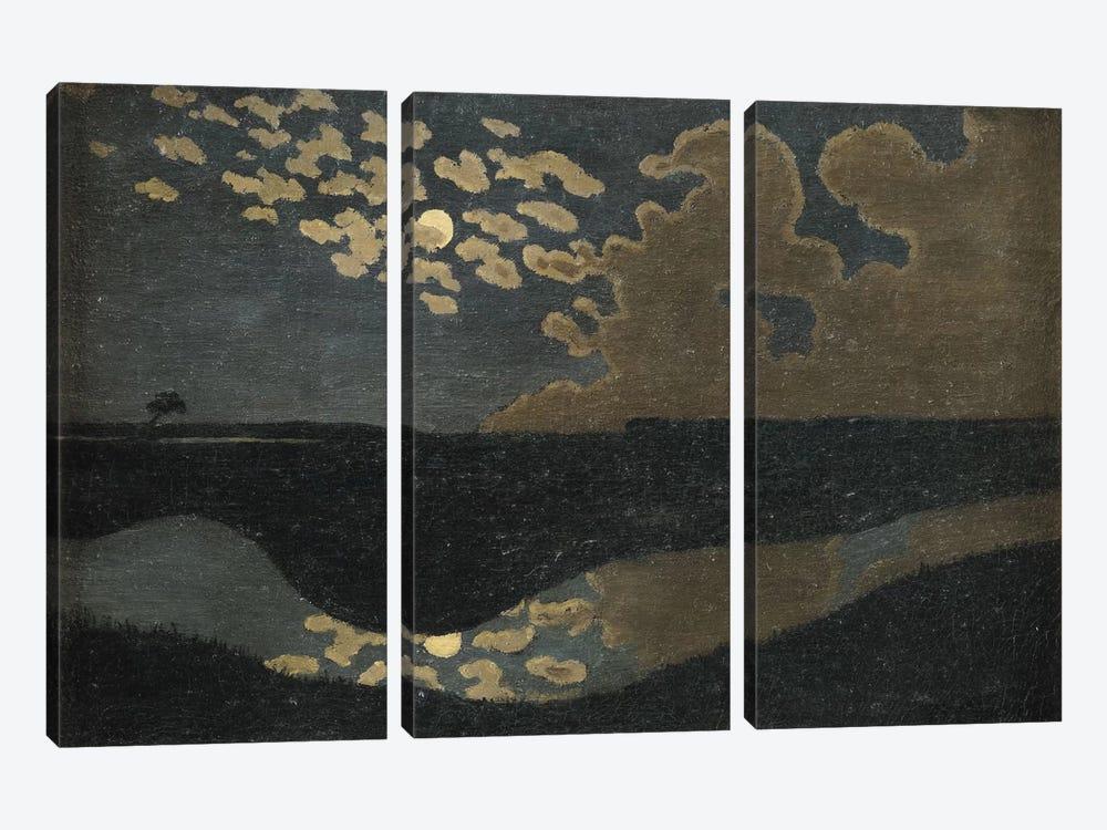 Moonlight, 1894  by Felix Edouard Vallotton 3-piece Canvas Art Print