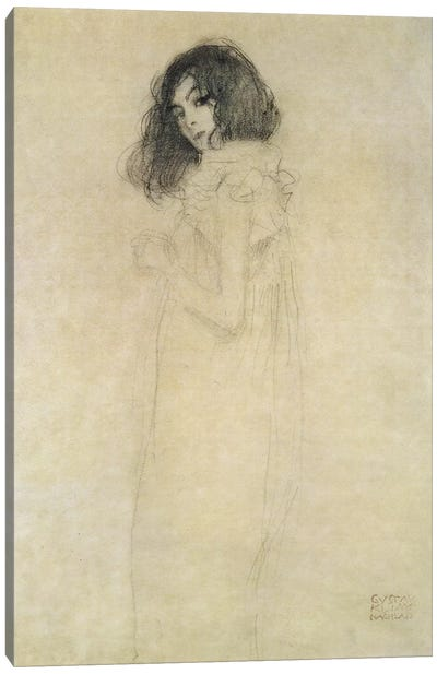 Portrait of a young woman, 1896-97 Canvas Art Print