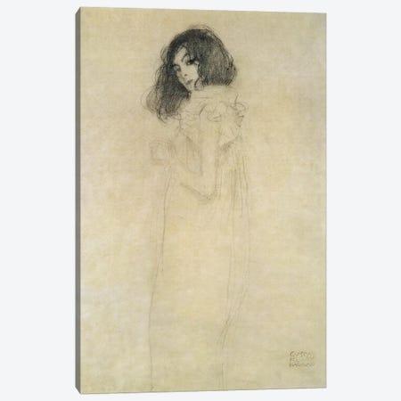 Portrait of a young woman, 1896-97 Canvas Print #BMN235} by Gustav Klimt Canvas Wall Art