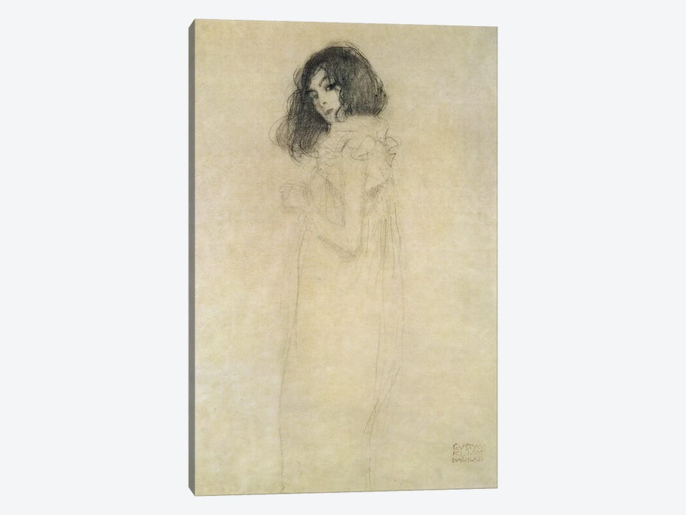 Portrait of a young woman, 1896-97 by Gustav Klimt 1-piece Canvas Artwork