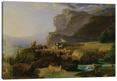 Battle of Thermopylae in 480 BC, 1823  Canvas Art Print