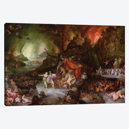 Aeneas and the Sibyl in the Underworld, 1598  Canvas Print #BMN2362} by Jan Brueghel the Elder Canvas Art Print