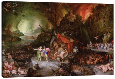 Aeneas and the Sibyl in the Underworld, 1598  Canvas Art Print