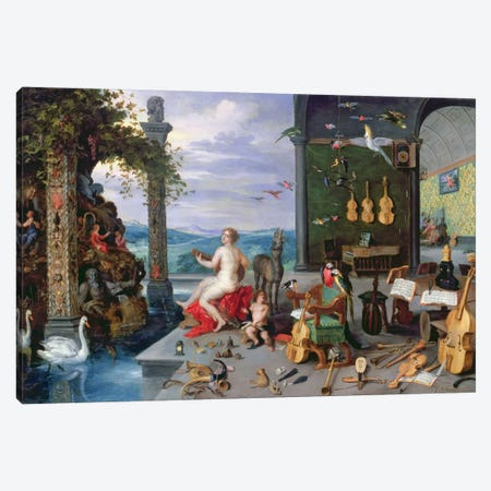 Allegory of Music  Canvas Print #BMN2363} by Jan Brueghel the Elder Canvas Print