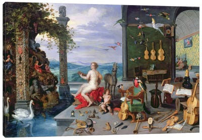 Allegory of Music  Canvas Art Print