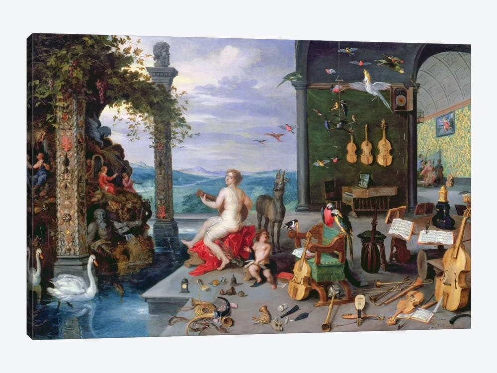 Allegory of Music  by Jan Brueghel the Elder 1-piece Canvas Art