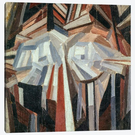 Cubist Head, 1914-15  Canvas Print #BMN2365} by Alexander Bogomazov Canvas Art