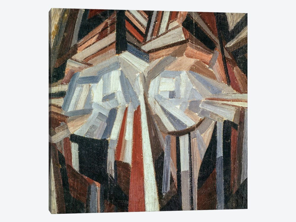 Cubist Head, 1914-15 by Alexander Bogomazov 1-piece Canvas Art