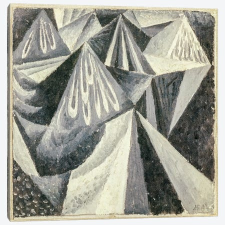 Cubo-Futurist Composition in Grey and White, 1916  Canvas Print #BMN2367} by Alexander Bogomazov Canvas Art