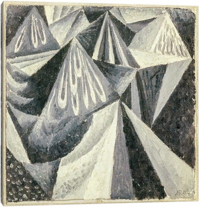 Cubo-Futurist Composition in Grey and White, 1916  Canvas Art Print