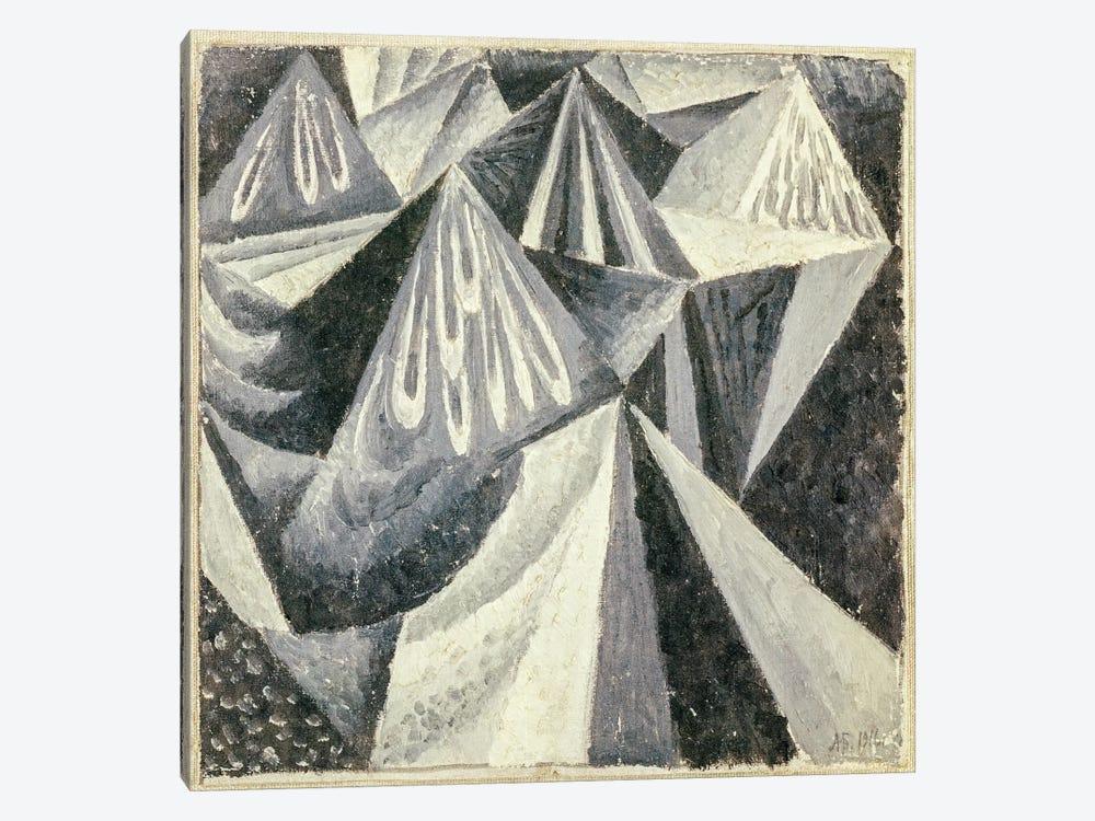 Cubo-Futurist Composition in Grey and White, 1916  by Alexander Bogomazov 1-piece Canvas Wall Art