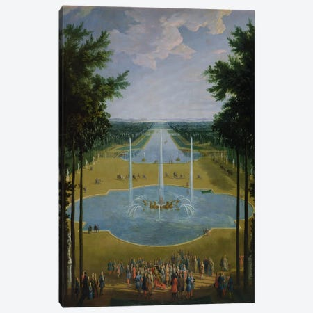 View of the Bassin d'Apollon in the gardens of Versailles, 1713  Canvas Print #BMN2369} by Pierre-Denis Martin Canvas Print