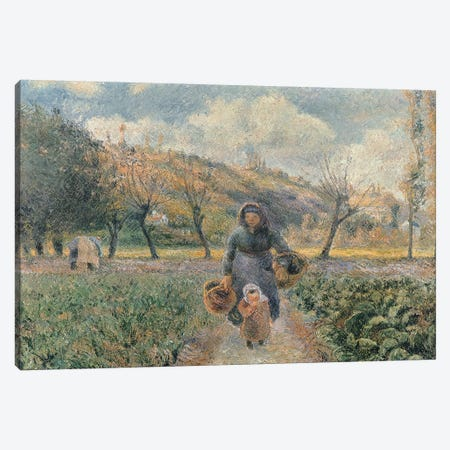 In the Garden  Canvas Print #BMN2374} by Camille Pissarro Canvas Art Print