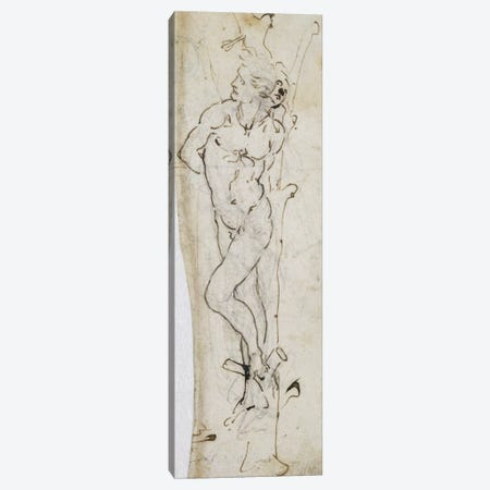 Study of St. Sebastian, 1480-81  Canvas Print #BMN2375} by Leonardo da Vinci Canvas Print