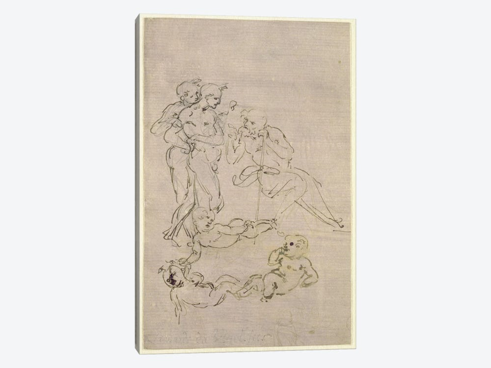 Figural Study for the Adoration of the Magi  1-piece Canvas Wall Art