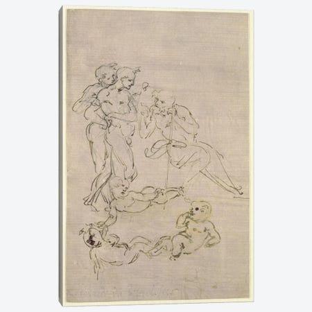 Figural Study for the Adoration of the Magi  Canvas Print #BMN2378} by Leonardo da Vinci Canvas Wall Art