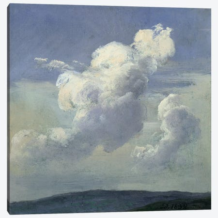 Cloud Study, 1832  Canvas Print #BMN2380} by Johan Christian Dahl Art Print