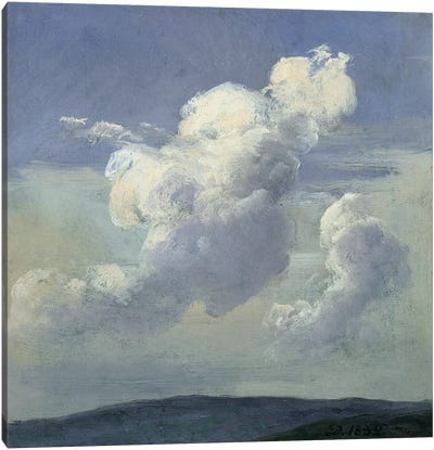 Cloud Study, 1832  Canvas Art Print