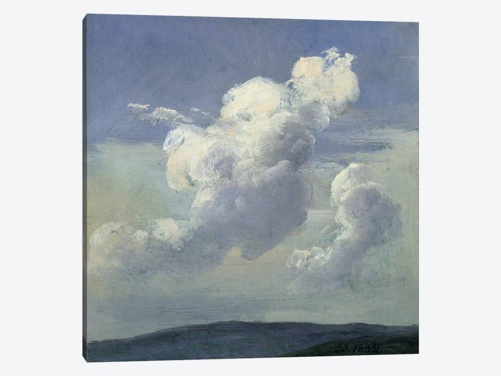 Cloud Study, 1832  by Johan Christian Dahl 1-piece Canvas Print