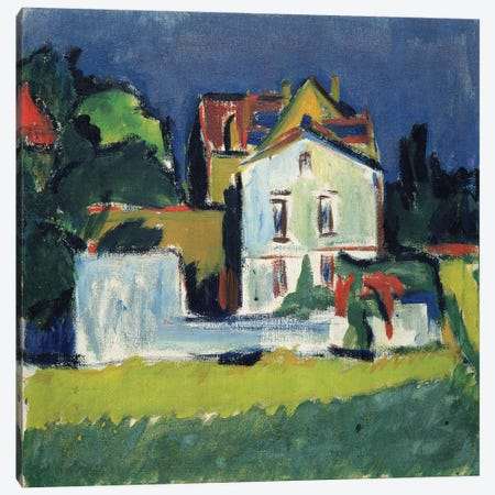 House in a Landscape  Canvas Print #BMN2382} by Ernst Ludwig Kirchner Canvas Print