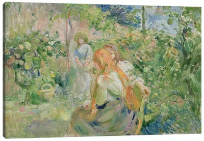 In the Garden at Roche-Plate, 1894  Canvas Art Print