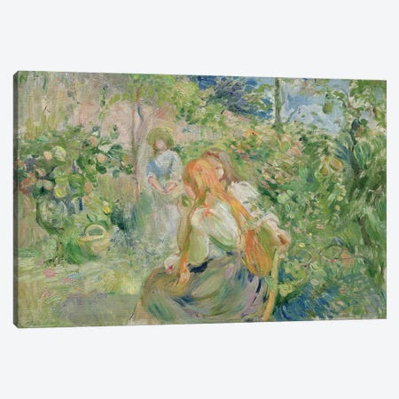 In the Garden at Roche-Plate, 1894  Canvas Print #BMN2384} by Berthe Morisot Canvas Art