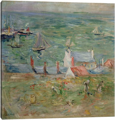 The Port of Gorey on Jersey, 1886  Canvas Art Print
