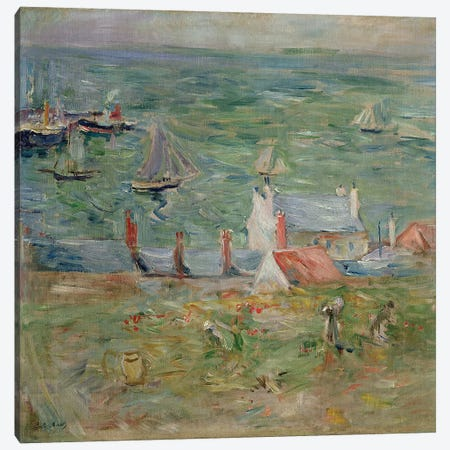 The Port of Gorey on Jersey, 1886  Canvas Print #BMN2385} by Berthe Morisot Canvas Art