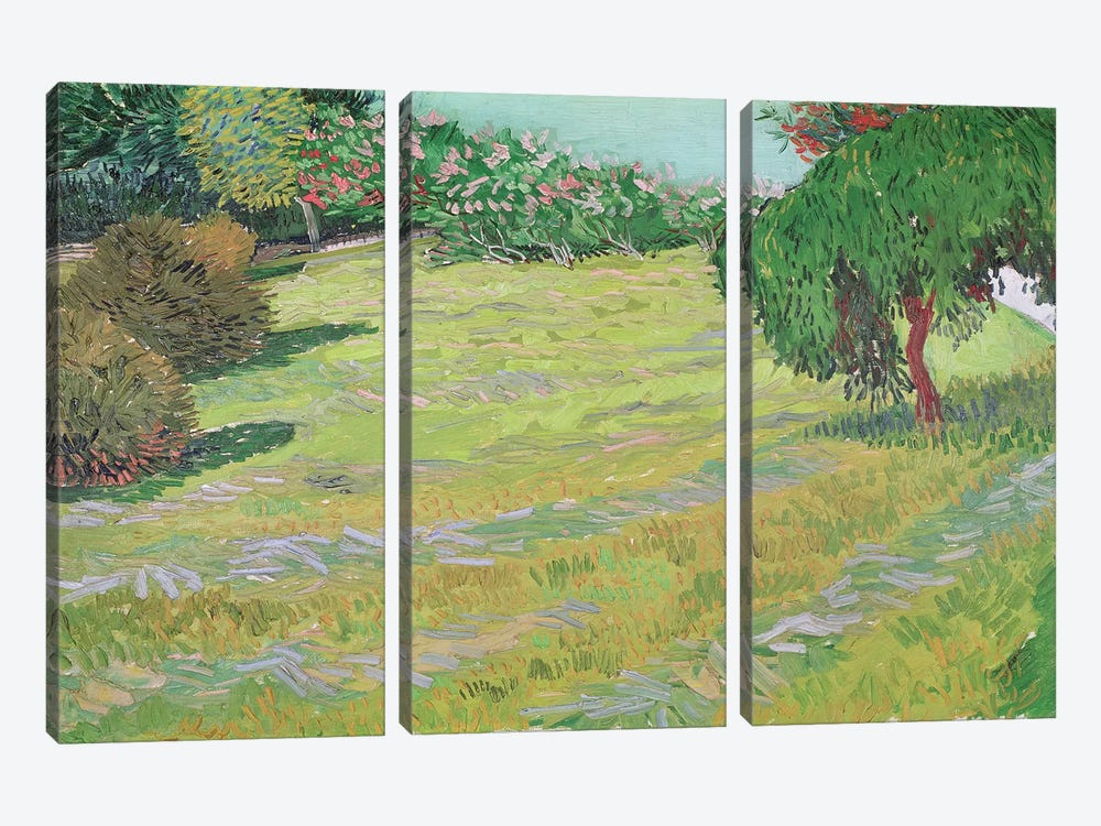 Field in Sunlight, 1888  by Vincent van Gogh 3-piece Canvas Wall Art