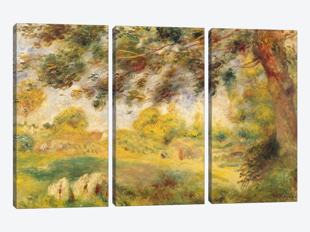Spring Landscape  by Pierre-Auguste Renoir 3-piece Art Print