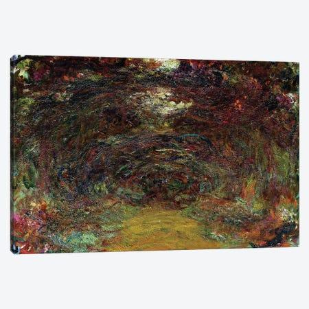 The Rose Path, 1920-22  Canvas Print #BMN2389} by Claude Monet Canvas Art Print