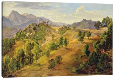 The Serpentara at Olevano, c.1824  Canvas Art Print