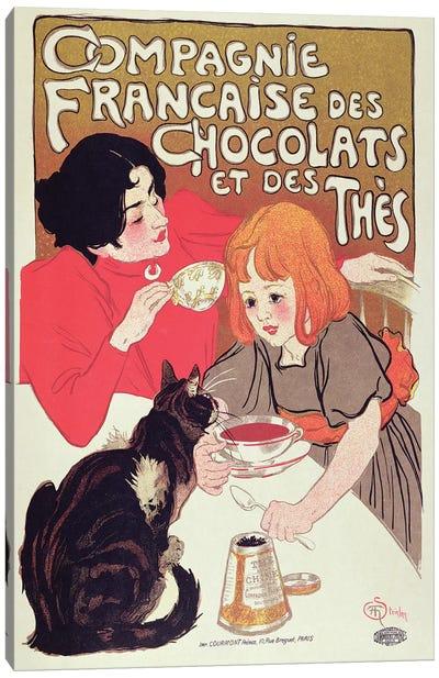 Poster advertising the Compagnie Francaise des Chocolats et des Thes, c.1898  Canvas Art Print