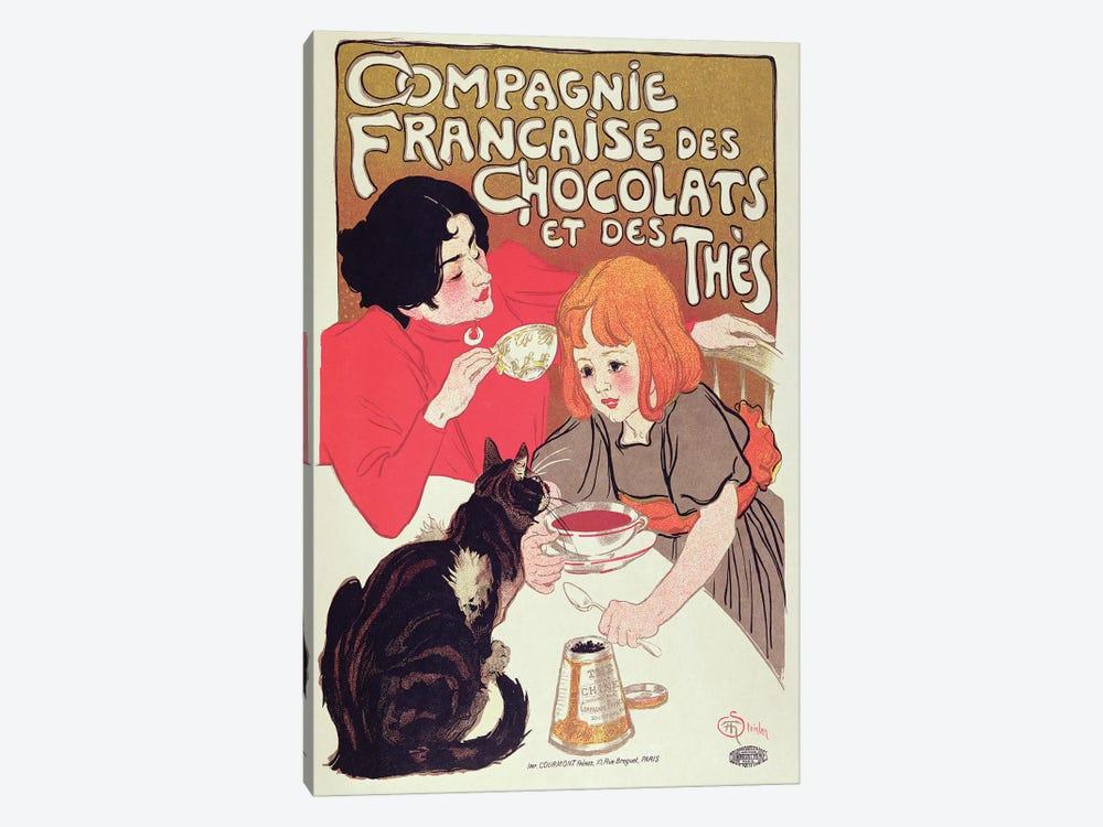 Poster advertising the Compagnie Francaise des Chocolats et des Thes, c.1898  by Theophile Alexandre Steinlen 1-piece Canvas Artwork