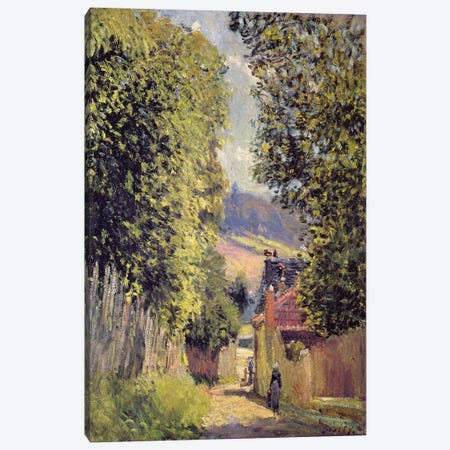 A Road in Louveciennes, 1883  Canvas Print #BMN2397} by Alfred Sisley Canvas Art Print