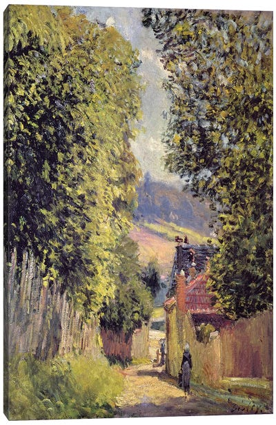 A Road in Louveciennes, 1883  Canvas Art Print