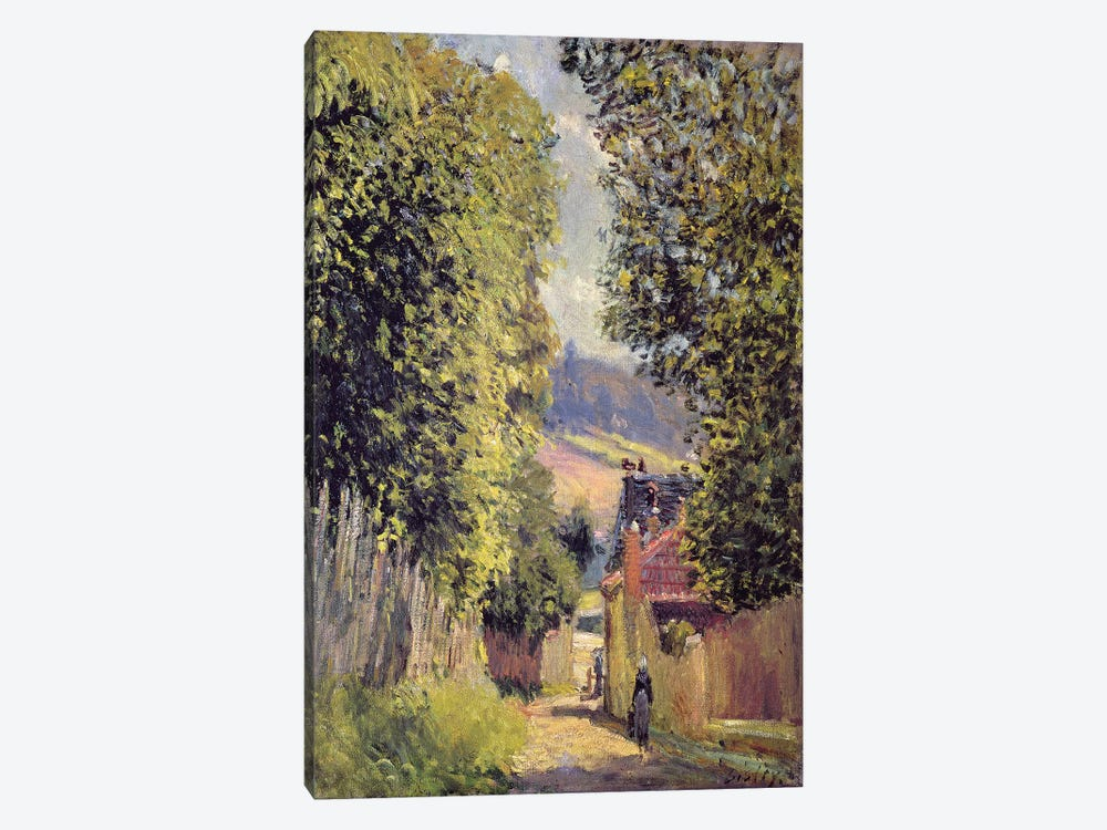 A Road in Louveciennes, 1883  by Alfred Sisley 1-piece Canvas Art Print