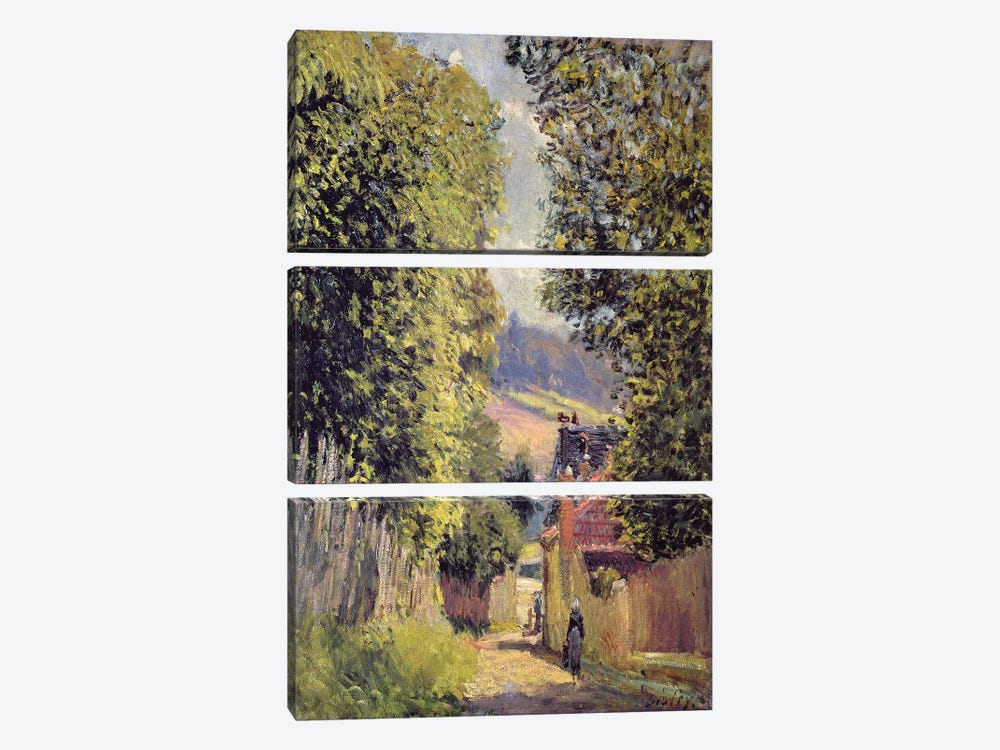 A Road in Louveciennes, 1883  by Alfred Sisley 3-piece Art Print