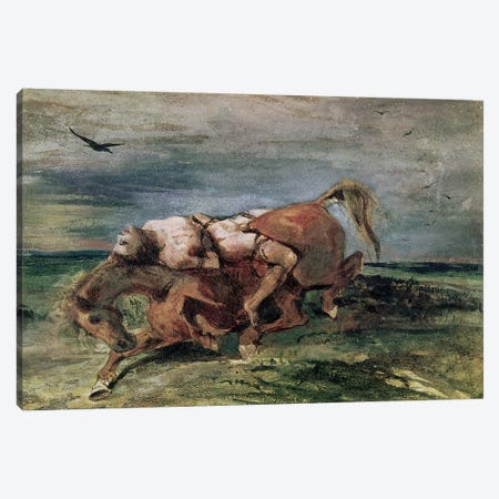 Mazeppa  Canvas Print #BMN2398} by Ferdinand Victor Eugene Delacroix Canvas Wall Art