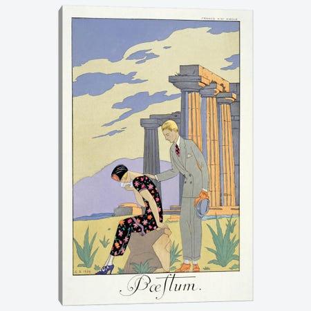 Paestum, 1924 (pochoir print) 3-Piece Canvas #BMN23} by George Barbier Canvas Art