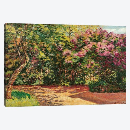 Lilac, the Artist's Garden  Canvas Print #BMN2405} by Jean Baptiste Armand Guillaumin Art Print