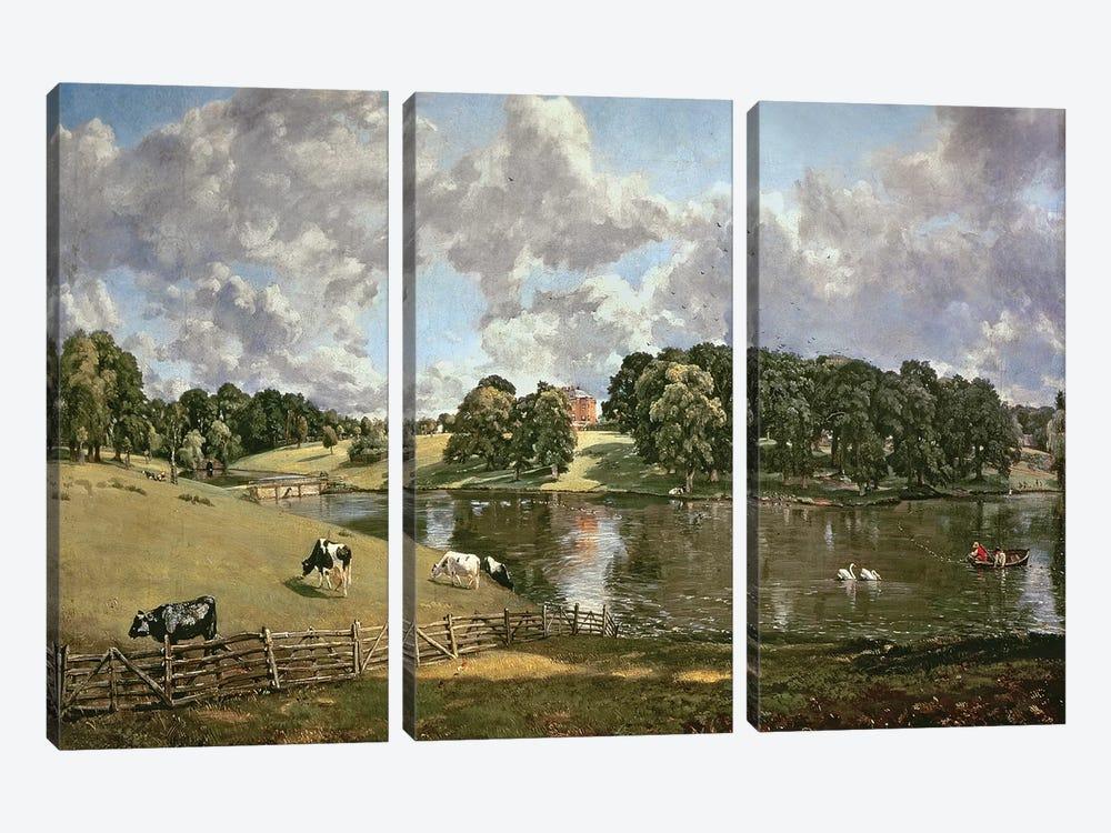 Wivenhoe Park, Essex, 1816  by John Constable 3-piece Canvas Wall Art