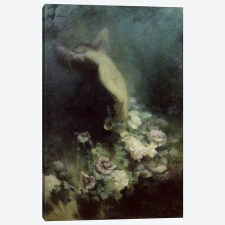 Les Fleurs du Sommeil  Canvas Print #BMN2407} by Achille Theodore Cesbron Canvas Art Print