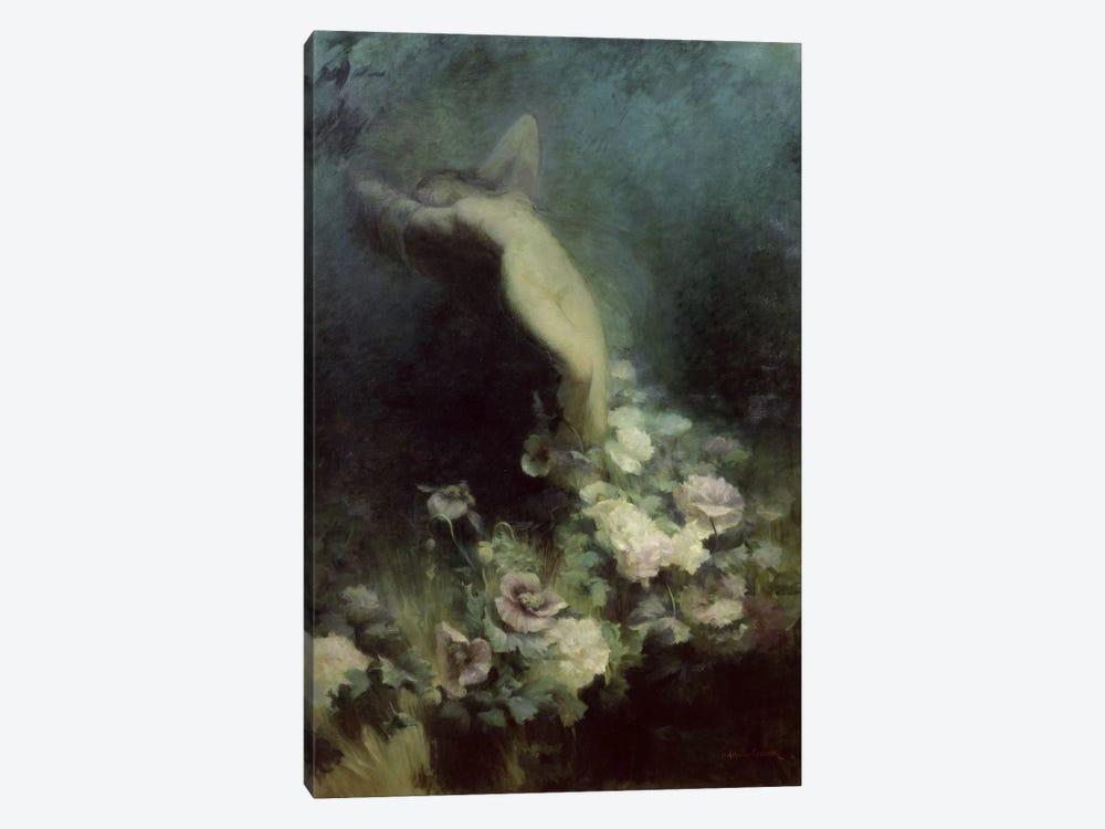 Les Fleurs du Sommeil  by Achille Theodore Cesbron 1-piece Canvas Print