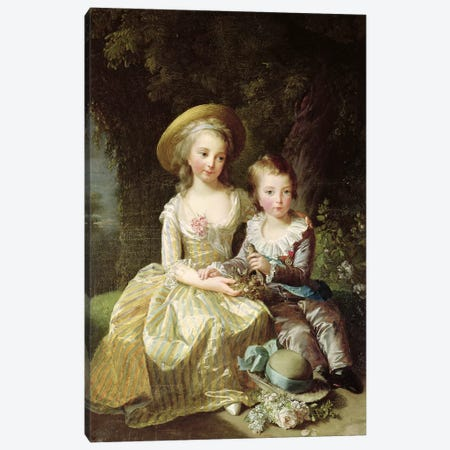 Portrait of a boy playing with a yo-yo  Canvas Print #BMN2408} by Elisabeth Louise Vigee Le Brun Canvas Wall Art