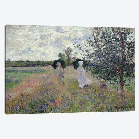 Promenade near Argenteuil, 1873  Canvas Print #BMN2409} by Claude Monet Canvas Wall Art