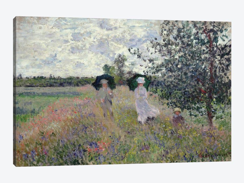 Promenade near Argenteuil, 1873  by Claude Monet 1-piece Canvas Art Print