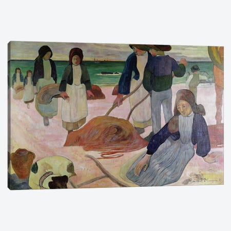 Seaweed Gatherers, 1889  Canvas Print #BMN240} by Paul Gauguin Canvas Art