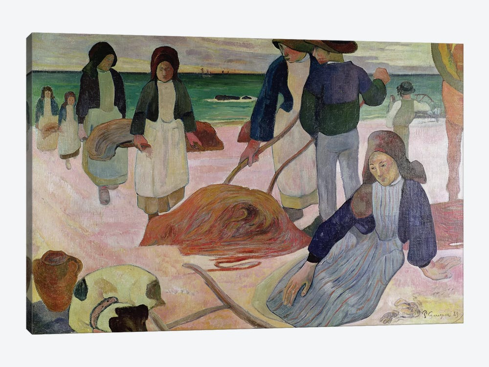 Seaweed Gatherers, 1889  by Paul Gauguin 1-piece Canvas Artwork